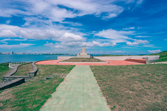 (wongwt) Tags: taiwan scenary  tw touristattraction historicsite  penghucounty  sel1635za sonya7ii makongcity japanesematsushimabattleshipmonument