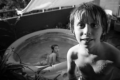 BW2 (francesco_if ) Tags: summer portrait people blackandwhite bw water kids swimming children