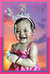 Mckayla's All Smiles (Chris C. Crowley- grieving and recovering) Tags: baby tiara cute girl toddler princess philippines smiles fairy littlegirl mckayla editbychriscrowley mckaylasallsmiles