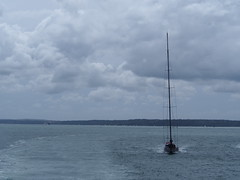 Following the Ferry into Harbour (andyj.jones) Tags: sea boat sailing solent southampton