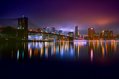 The Brooklyn Bridge (mudpig) Tags: newyorkcity longexposure fog night skyscraper river cityscape shoreline landmark brooklynbridge license eastriver multicolored suspensionbridge hdr cloudscape horizonte gettyimages nuevayork orizzonte   cidadedenovayork mudpig stevekelley  janescarousel   linhadohorizonte lignedhorizon ufukizgisi      thnhphnewyork   kakilangit   lavilledenewyork stevenkelley chntri  sylwetkanatlenieba  licensenow    latarlangit