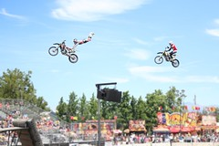 Up In the Air (alyssa_lilly) Tags: california county summer west coast fair tricks bayarea activity countyfair alameda westcoast alamedacountyfair dirtybike motorists