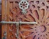 Moroccan door (SM Tham) Tags: africa morocco rifmountains chefchaouen ensembleartisanal door doorleaf ironmongery latch woodcarving geometrical patterns stars