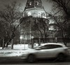 Moscow streets (andreykowanowsky) Tags: moscow morrow morning twigs chirch car blury bw blackandwhite mist darkmood mood urban architecture road city moscowcity winter cold snow street streetphotography
