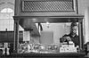(frscspd) Tags: 70090003 20161003 pentax pentaxmx mx takumar takumar58mm 58mm ilford ilfordxp2400bw ilfordxp2 xp2 film filmgrain london chelsea chelseaoldtownhall ilab aba antiquarianbooksellersassociation internationalleagueofantiquarianbooksellers chelseaantiquarianbookfair candid tearoom coffeeroom barista