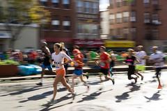 Speed demons (kzoop) Tags: nyc newyork newyorkcity brooklyn marathon running runners nycmarathon motionblur