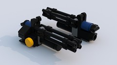 Minigun (GrGLy) Tags: lego military minigun weapons