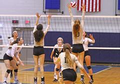 IMG_8105 (SJH Foto) Tags: girls volleyball high school york delone catholic team teen teenager net battle spike block action shot jump midair