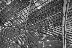 Hauptbahnhof Berlin (Pascal Volk) Tags: berlin moabit berlinmitte architektur architecture artinbw schwarz weis black white blackandwhite schwarzweis bw sw bauwerk building gebäude komplex buildingcomplex gebäudekomplex baukomplex modernistarchitecture modernarchitecture modernearchitektur canoneos6d canonef24105mmf4lisusm 24mm wideangle weitwinkel superwideangle superweitwinkel ultrawideangle ultraweitwinkel ww wa sww swa uww uwa