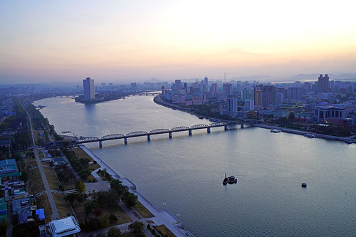 Pyongyang sunset from Juche Tower