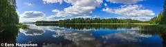 A typical Finnish lake landscape in mid summer (Eero Happonen) Tags: 2014 joutsjärvi lohilahti mäntykallio sysmä iphone5s järvi kesäkuu kesäkuu2014 kesämökki panoraama lake finland summercottage lakejoutsjärvi