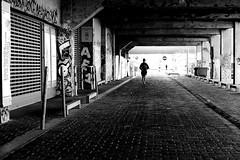 On pavements (pascalcolin1) Tags: paris13 homme man pavés pavements runner sportif photoderue streetview urbanarte noiretblanc blackandwhite photopascalcolin