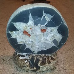 Срез септарии Белая звезда (Каталог Минералов) Tags: минералы камень срез септарии белая звезда mineral stone