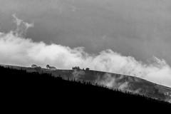 Altopiano di Asiago (danilomanera) Tags: fuji asiago montagna paesaggio allaperto monocromo cielo bianco e nero nuvole nebbia