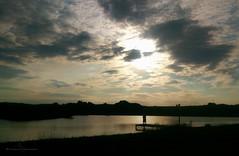 L O V E R S .. O N .. T H E .. F O O T B R I D G E (Graphic design - Photo - Art) Tags: love miłość krajobraz landscape zachód light świało chmury clouds water woda silhouette sylwetka evening wieczór people ludzie zakochani lovers sunset sun słońce sky niebo