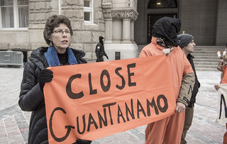 Helen Schietinger and Other Anti-Torture Activists Hold a Demonstration Outside Trump International Hotel in Washington, DC