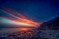 Sunset at Diamond Head Beach Park (JUNEAU BISCUITS) Tags: hawaii oahu honolulu diamondhead beach ocean sunset cloudscape clouds longexposure leefilters nikond810 nikon landscape lighthouse