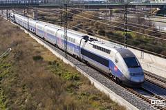 TGV Duplex (Escursso) Tags: 802 barcelona catalonia catalunya dasye duplex mollet paris renfe sncf santfostdecampsentelles tgv trainspotting estacio railway station train tren 2n2 euroduplex