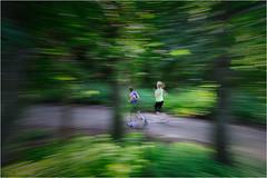 Running (José Santiago [Fotografia Creativa]) Tags: josesantiago josansaru fotografiacreativa movimiento moving barrido running arbol camino bosque vegetacion corredor gente personas chica chico heidelberg alemania