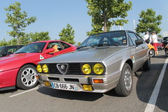 Alfasud Sprint (xwattez) Tags: auto old france verde car italian automobile centre voiture commercial transports sprint alfaromeo ancienne giulietta 2015 italienne quadrifoglio vhicule labge rassemblement
