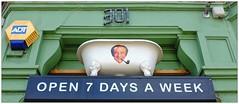 Sid's Plumbing (Explore 12-6-15), South East London, England. (Joseph O'Malley64) Tags: uk england london plumbing smoking bathtub carryon pipework 301 sidjames southeastlondon pipesmoker opensevendays carryonatyourconvenience plumbersmerchants sidsplumbing sidbogs