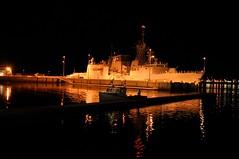 Charlottetown waterfront (ian.b) Tags: night dock battleship pei