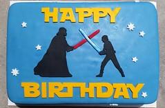 Star Wars cake by Christine, LinnCounty, IA, www.birthdaycakes4free.com