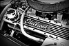 Engine (tom_greaves) Tags: blackandwhite monochrome car canon mono warrington cheshire engine historic chrome vehicle vignette hdr edelbrock lymm canon400d