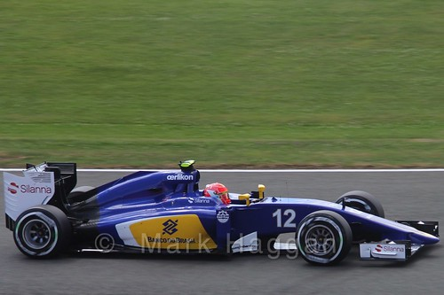 Felipe Nasr in qualifying for the 2015 British Grand Prix at Silverstone