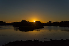 The setting sun (Nick_Rowland) Tags: sunset summer water suffolk lakes burystedmunds lackford suffolkwildlifetrust