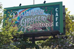 Rainbow Grocery bill board SF (cooli_#1) Tags: california street food men girl photography photo rainbow nikon women san francisco walks shoot outdoor district bart 85mm mexican mission trucks grocery nikkor 18 tough d3