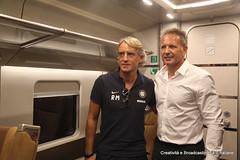 Mancini e Mihajlovic (Ferrovie dello Stato Italiane) Tags: milan tim milano treno inter reggioemilia trenitalia treni sassuolo trofeotim frecciarossa1000