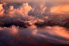 stormy sunrise over the Pacific - awe inspiring moment (Jaws300) Tags: flying scenery airborne clouds water ocean sea storm storms sky sunrise ahk airhongkong airbus a300 a306 a300f a306f a300600 a300600f freighter cargo plane navigating pacific pacificocean