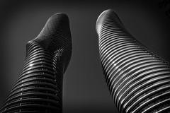 Absolute Towers (Dan Fleury Photos) Tags: blackandwhite white toronto ontario canada black wall architecture mono curvy condo mississauga bnw cans2s