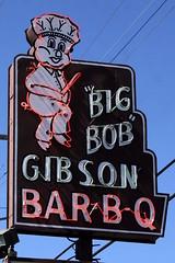 """Big Bob"" Gibson Bar-B-Q - Decatur, AL (SeeMidTN.com (aka Brent)) Tags: morgancounty decatur al alabama barbq barbecue bigbob gibson neon sign restaurant us31 pig pork bmok bmok2"