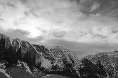 Cold Front (HeyItzDucky) Tags: mountain road black white pikes peak traveling travel winter cold clouds frozen rocky grey gray neutral nature driving adventure