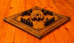 Hnefatafl - Viking Chess (krillmerma) Tags: hnefatafl viking ancient board game wood king pieces games talbut