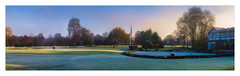 Nineteenth Hole (Kevin, from Manchester) Tags: canon1100d canon1855mm kevinwalker manchester mist monton northwest panorama panoramic photoborder sky golf worsley hdr lancashire