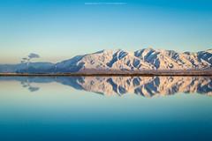 Enchanted Glass (Darhawk) Tags: thegreatsaltlake saltlakecity glass lake salty reflection winter christmas time 2016 thereturn utah