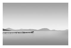 Two Fishermen (Dimitri De Tavernier Photography) Tags: peaceful calm blackandwhite longexposure greece serene nikon haida filters nd le monochrome mono minimal water sea seascape photography