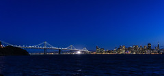 The blue hour - Oakland Bay Bridge (lasse christensen) Tags: dsc6974 oaklandbaybridge usa california sanfrancisco bluehour blåtimen