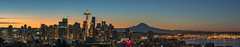 It's a Great Day to Be a 12!  ...After a brutal loss, I should probably change the title...eek! (Stephanie Sinclair) Tags: january2017 mtrainier nikond810 seattlespaceneedle city cityscape nikon seattle stephaniesinclairphotography sunrise zeiss wow pano panorama dawn mountain silhouette washington