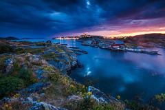 Blue Hour at Marstrand (I. D.) Tags: bluesky reise bluehour sverige karlstensfästning longexposure travel schweden bohuslän carsten sweden skandinavien 2015 skagerrak västragötalandslän marstrand
