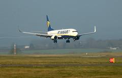 EI-EFZ landing. (aitch tee) Tags: cardiffairport aircraft airliner landing jetliner ryanair boeing b737800 eiefz cwlegff maesawyrcaerdydd walesuk