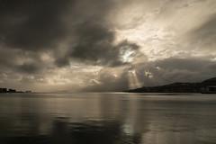 sky and sea (glasnevinz) Tags: newzealand wellington harbour sky cloud sea calm