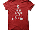 New Keep Calm And Fire Up The Grill Unique Sport Funny Men T-Shirt Size S-2XL (Adiovith) Tags: new keep calm and fire up the grill unique sport funny men tshirt size s2xl