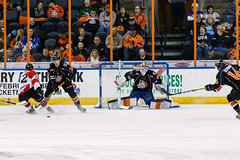 "Missouri Mavericks vs. Cincinnati Cyclones, January 25, 2017, Silverstein Eye Centers Arena, Independence, Missouri.  Photo: John Howe / Howe Creative Photography • <a style=""font-size:0.8em;"" href=""http://www.flickr.com/photos/134016632@N02/32405470252/"" target=""_blank"">View on Flickr</a>"