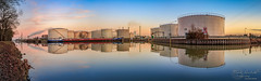 Mineralölhafen von Lünen (Frank Heldt Photography) Tags: dattelnhammkanal lünen stadthafen stadthafenlünen spiegelung mirror sonnenaufgang sunrise fotografie foto ohoto frank heldt