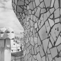 La Pedrera Mosaic (David Abresparr) Tags: casamilà lapedrera barcelona gaudi spain mosaic