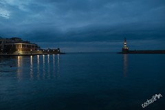 Every evening diffrent colours! (costas89m) Tags: lighthouse greece crete chania oldtown venecianport oldharbour
